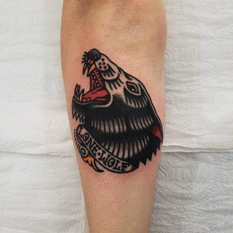 Wolf Tattoo 90