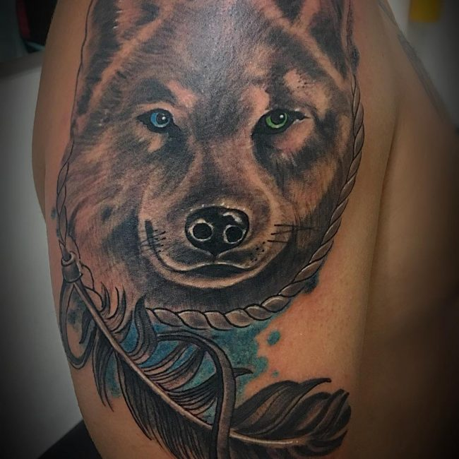 95 Best Tribal Lone Wolf Tattoo Designs Meanings 2018