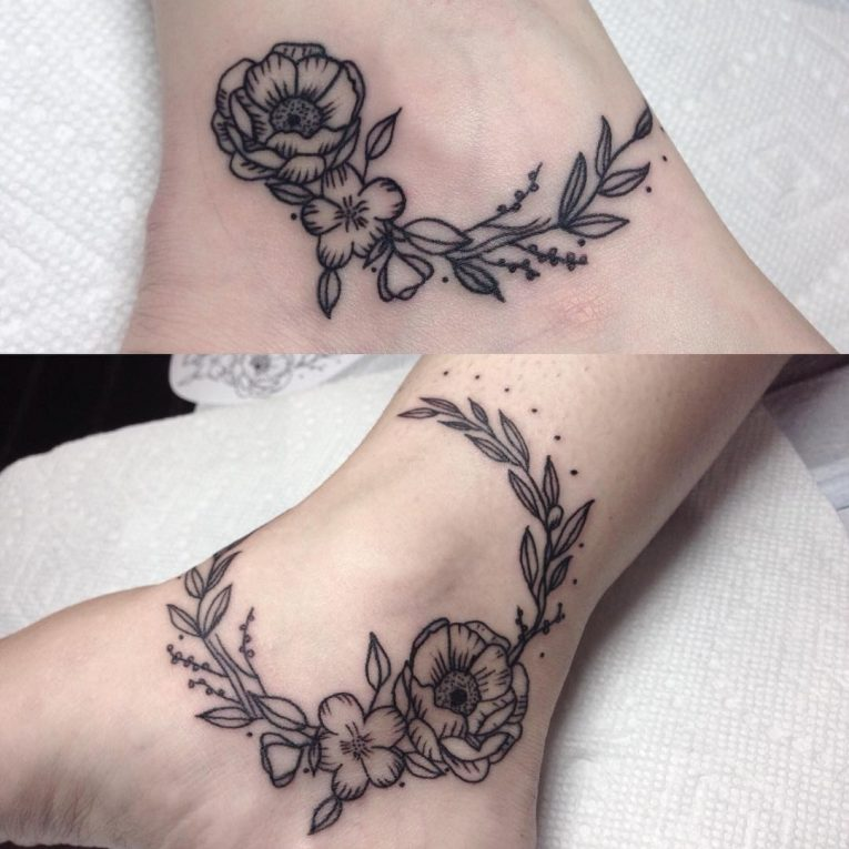 Ankle Tattoo 106