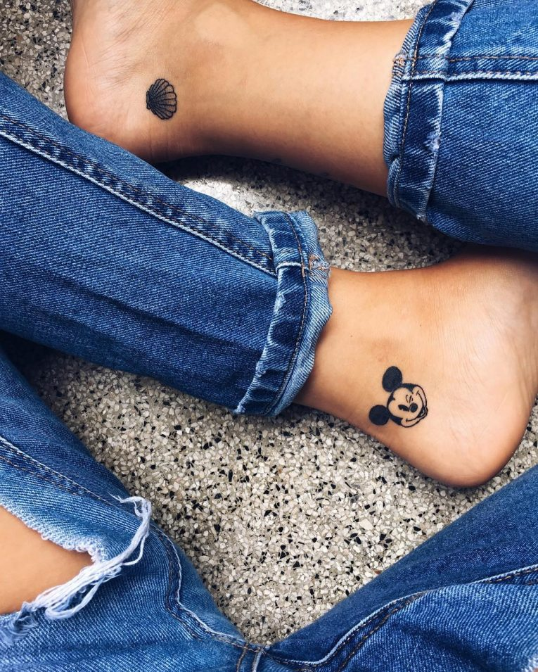 Ankle Tattoo 108