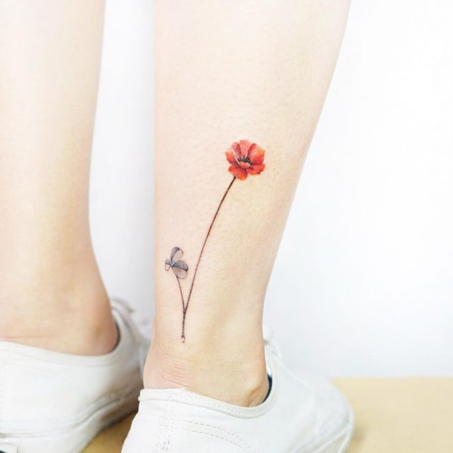 Ankle Tattoo 96