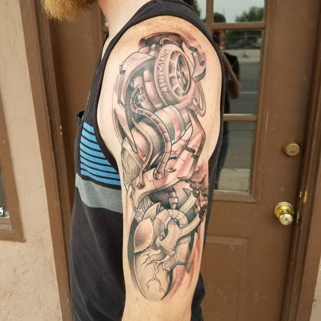 Biomechanical Tattoo 58