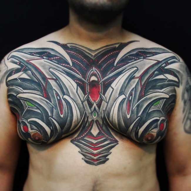 Biomechanical Tattoo 62