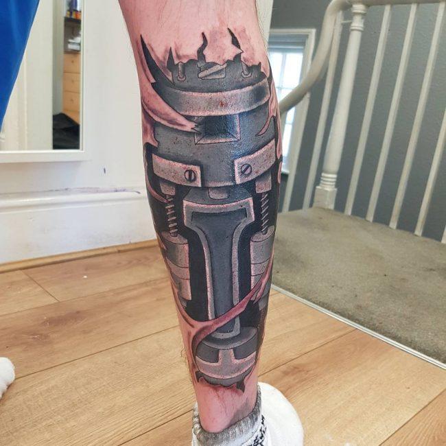 Biomechanical Tattoo 65