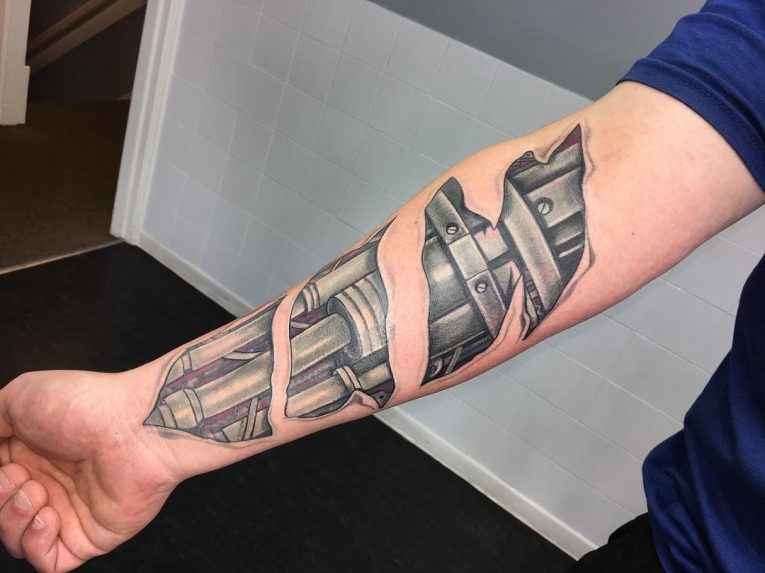Biomechanical Tattoo 73