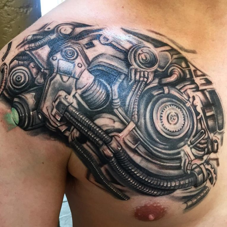 Biomechanical Tattoo 74