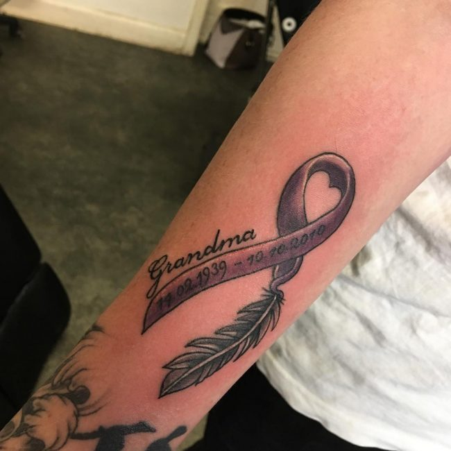 Cancer Ribbon Tattoo 49