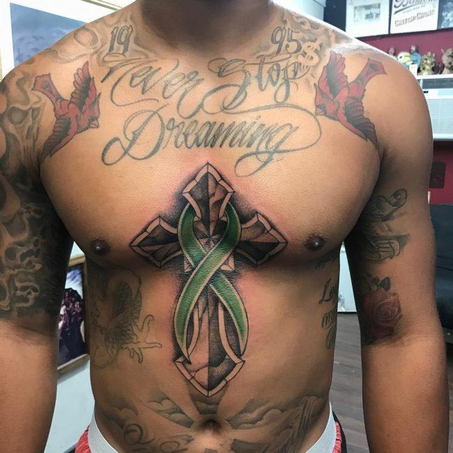 Cancer Ribbon Tattoo 53