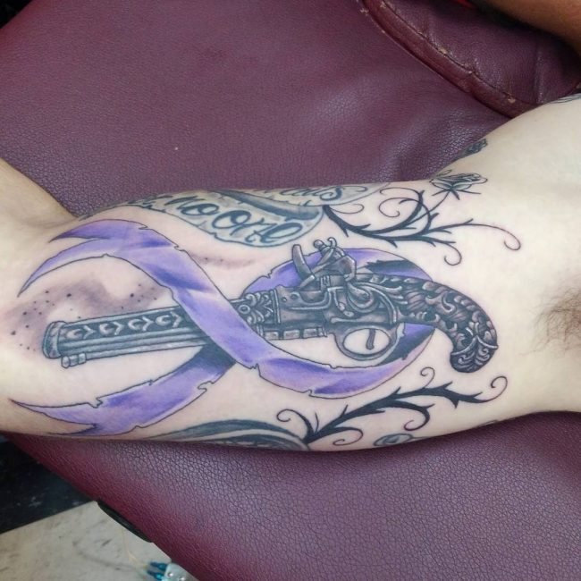 Cancer Ribbon Tattoo 55