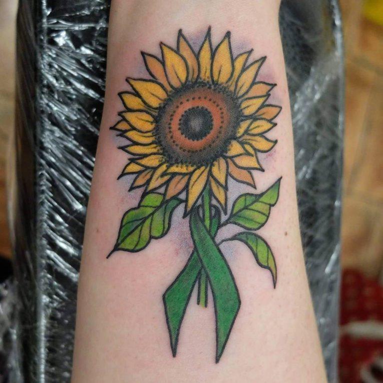 Cancer Ribbon Tattoo 64