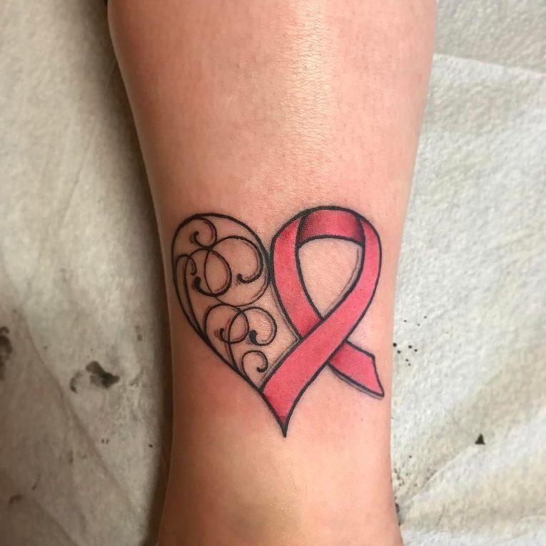 Cancer Ribbon Tattoo 66