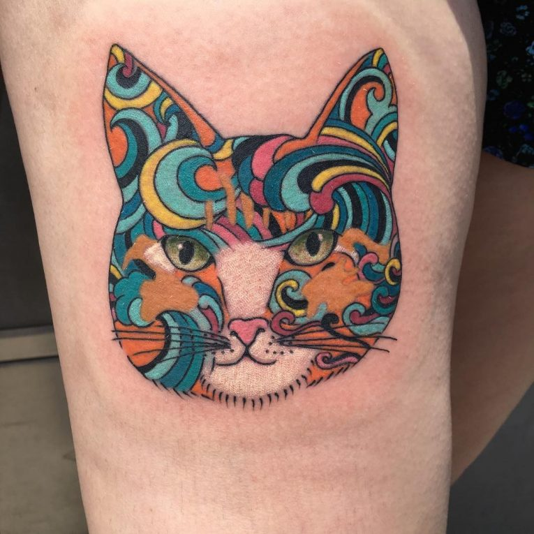 Cat Tattoo 75