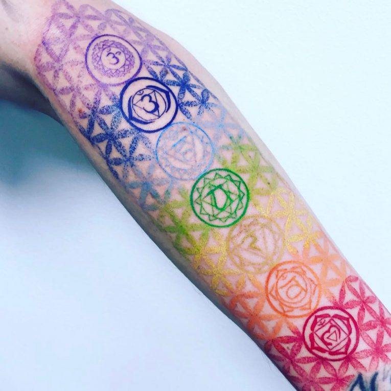 55 energizing chakra tattoo designs focus your energy for Solar plexus tattoo