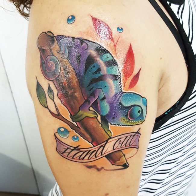 Chameleon Tattoo 43