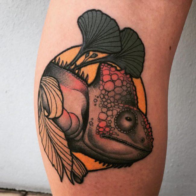 Chameleon Tattoo 48