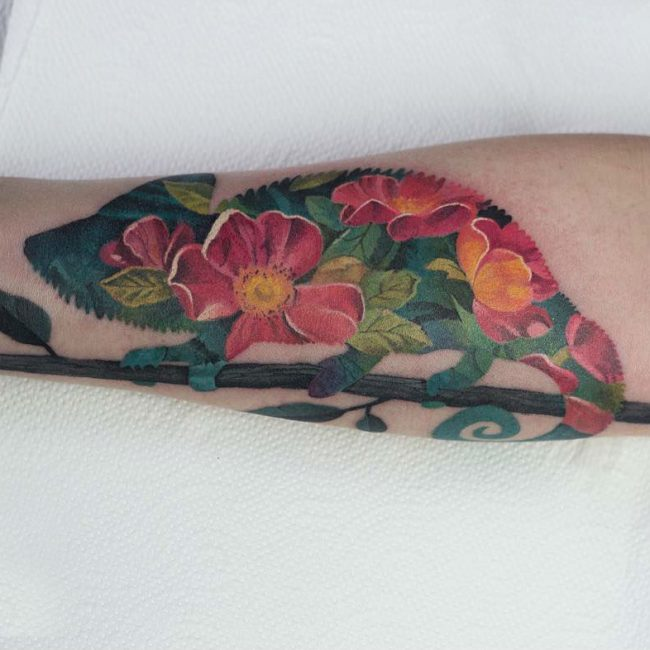 Chameleon Tattoo 50