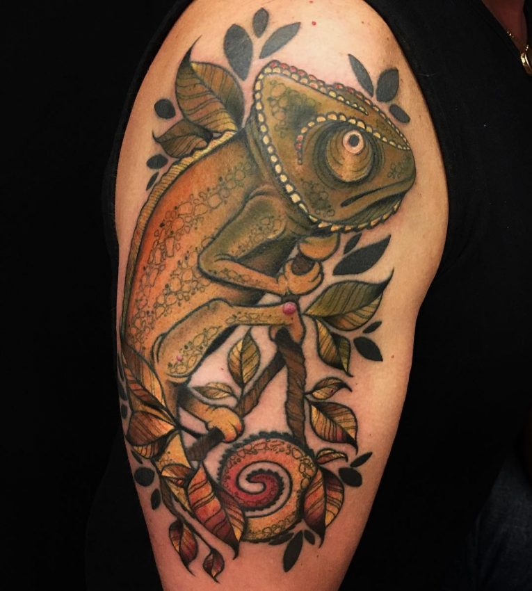 Chameleon Tattoo 51