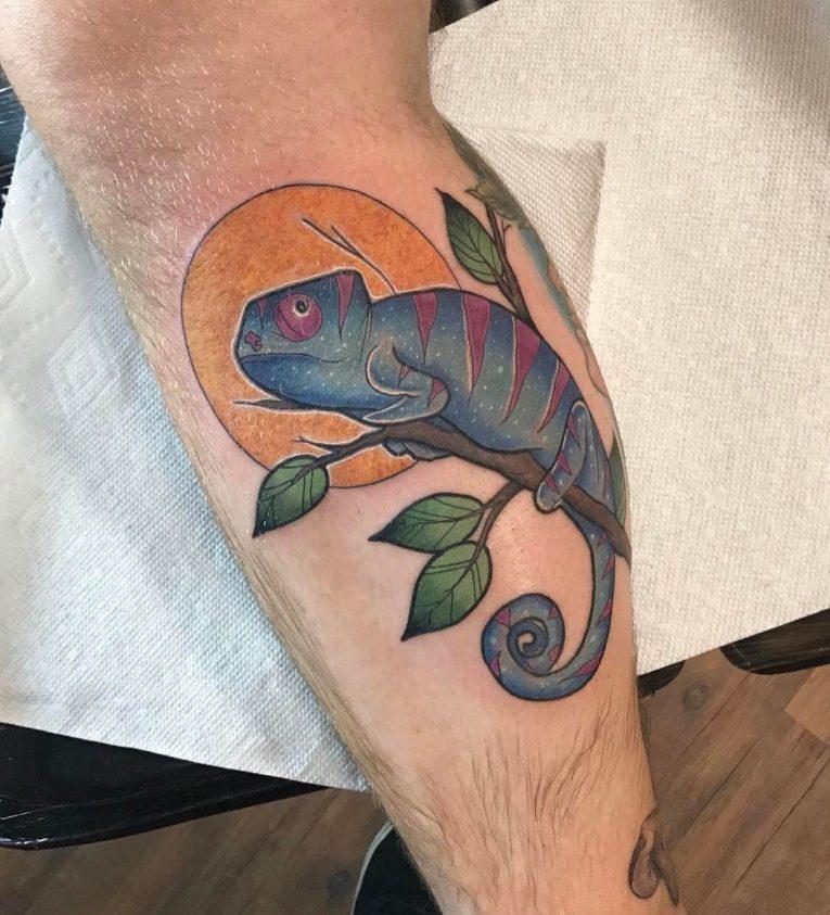 Chameleon Tattoo 52