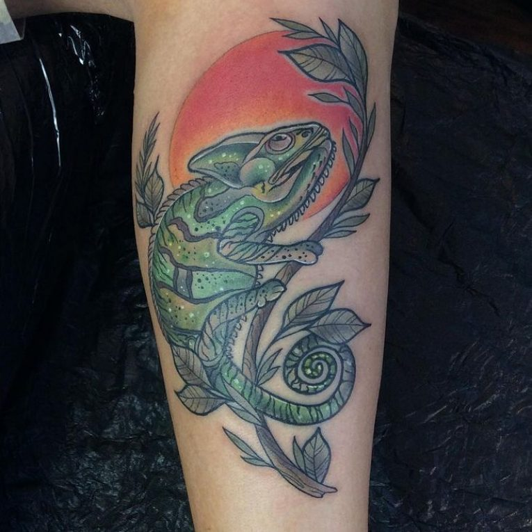 Chameleon Tattoo 53