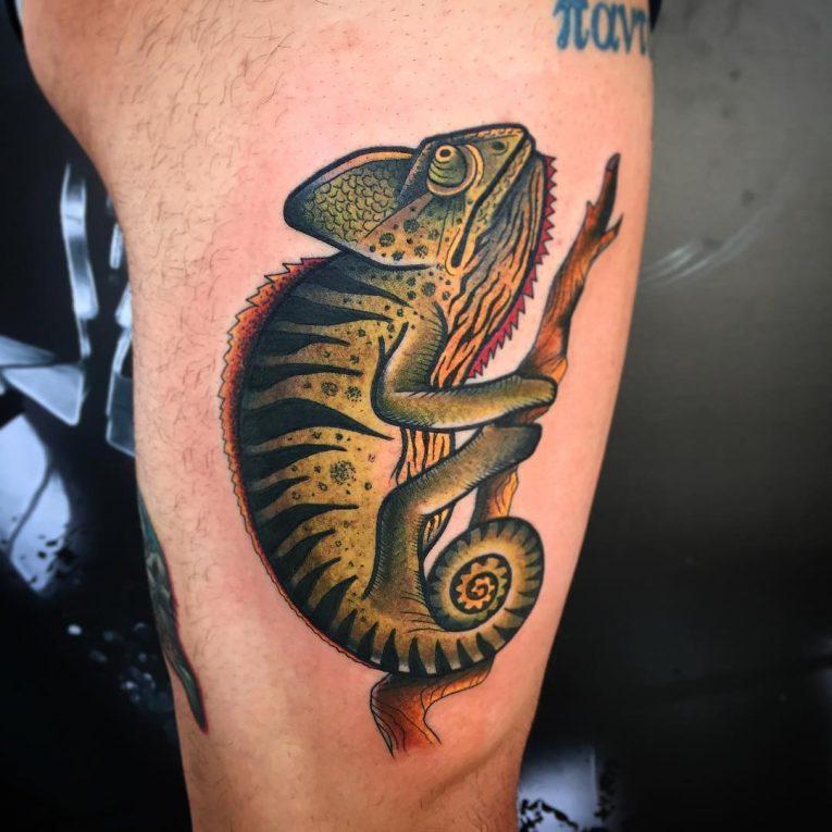 Chameleon Tattoo 54