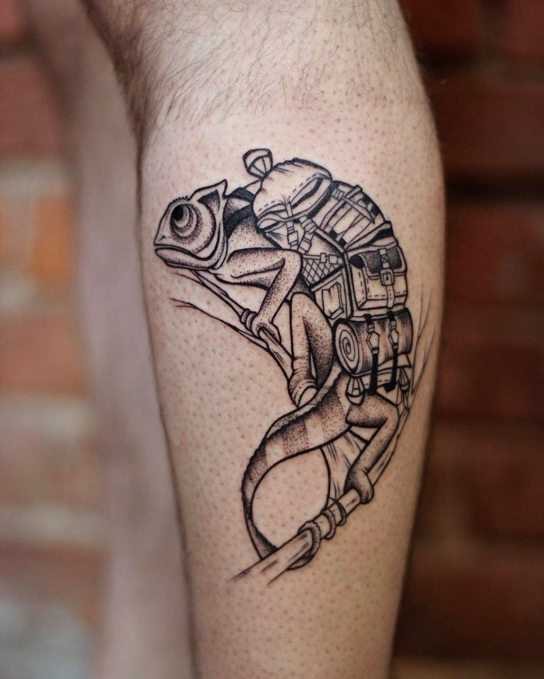 Chameleon Tattoo 55