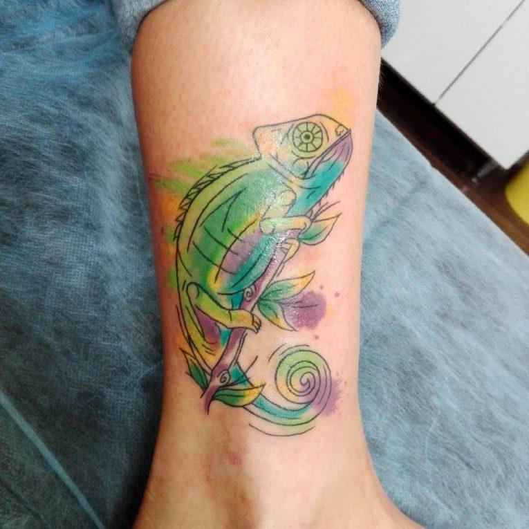 Chameleon Tattoo 56