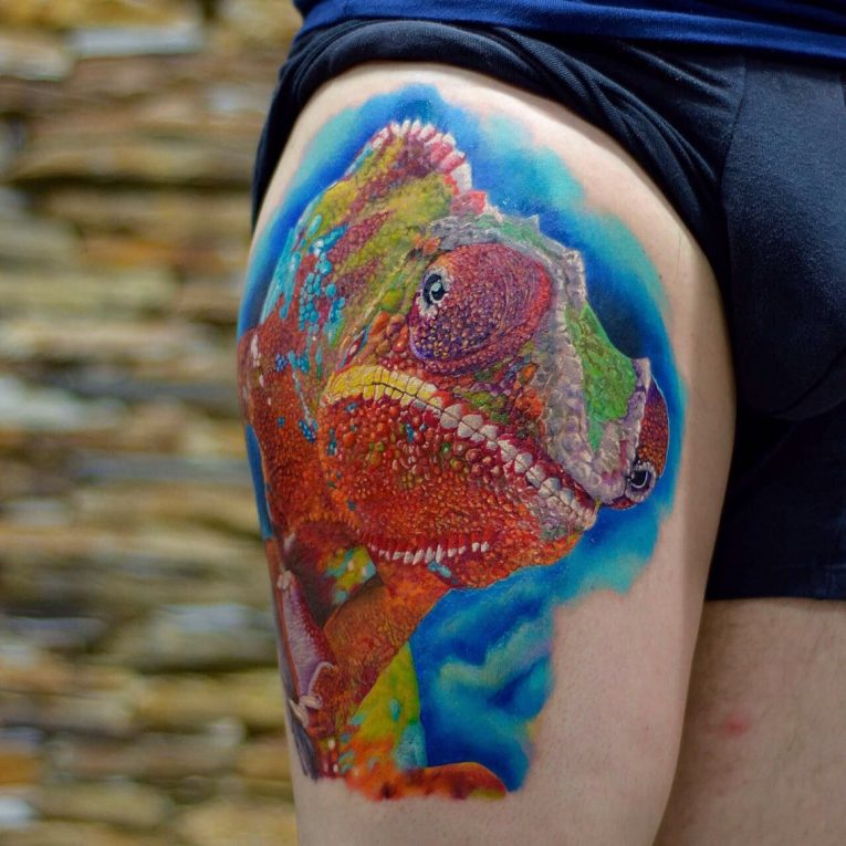Chameleon Tattoo 57