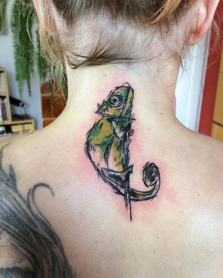 Chameleon Tattoo 58