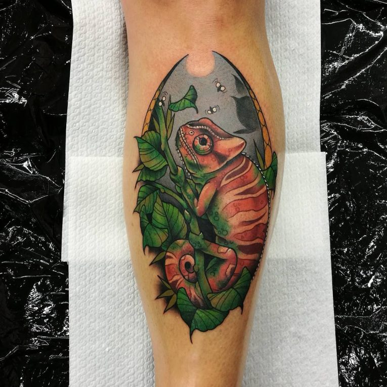 Chameleon Tattoo 60