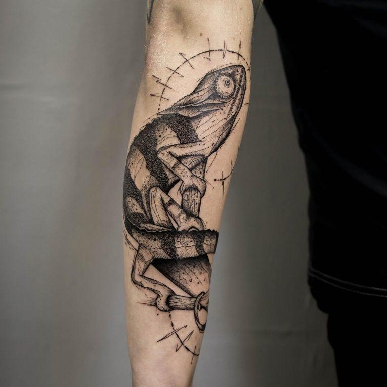 Chameleon Tattoo 61