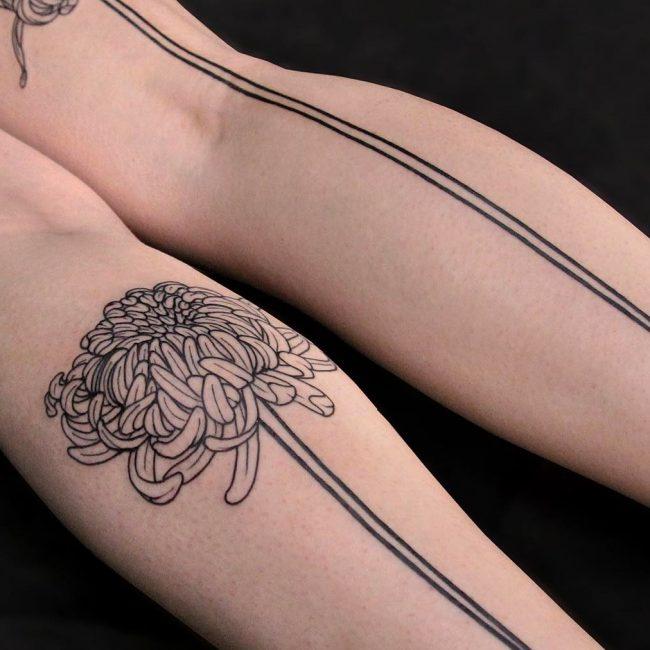 Chrysanthemum Tattoo 56