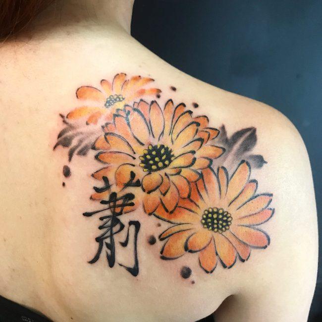 Chrysanthemum Tattoo 57