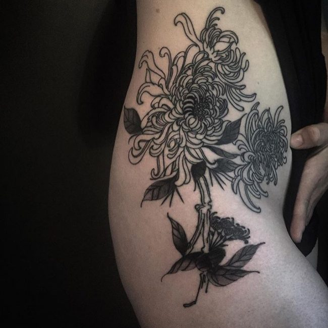 Chrysanthemum Tattoo 58