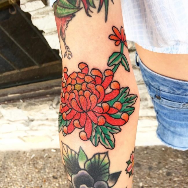 Chrysanthemum Tattoo 59