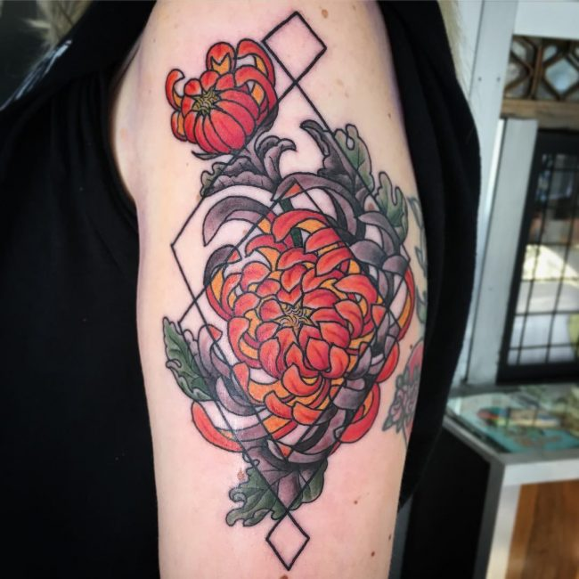 Chrysanthemum Tattoo 60