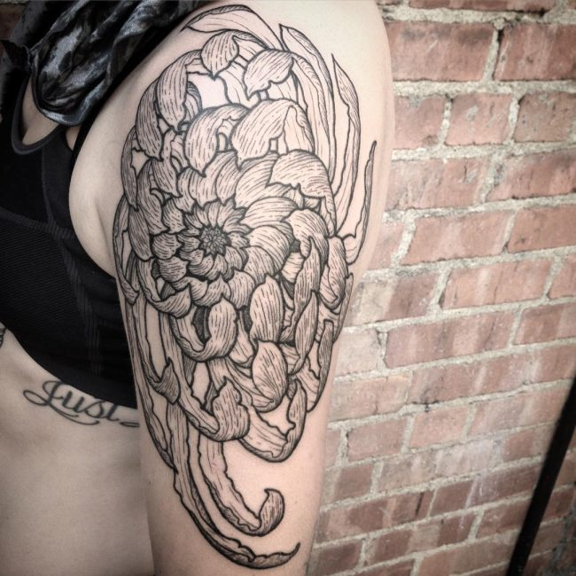 Chrysanthemum Tattoo 61