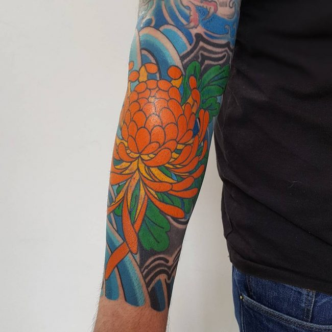 Chrysanthemum Tattoo 64
