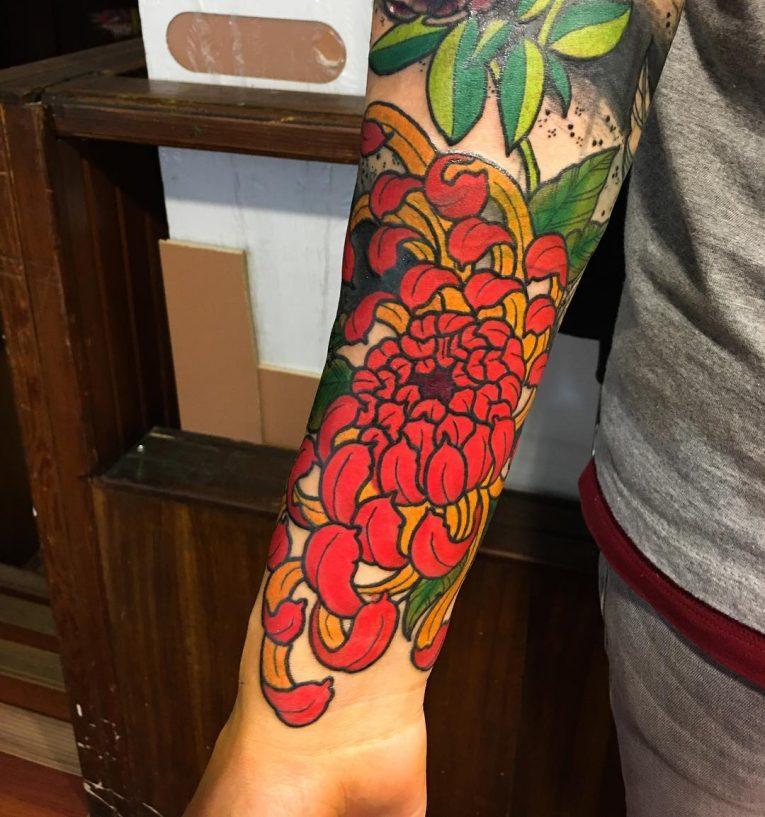 Chrysanthemum Tattoo 66