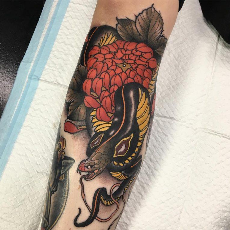 Chrysanthemum Tattoo 67