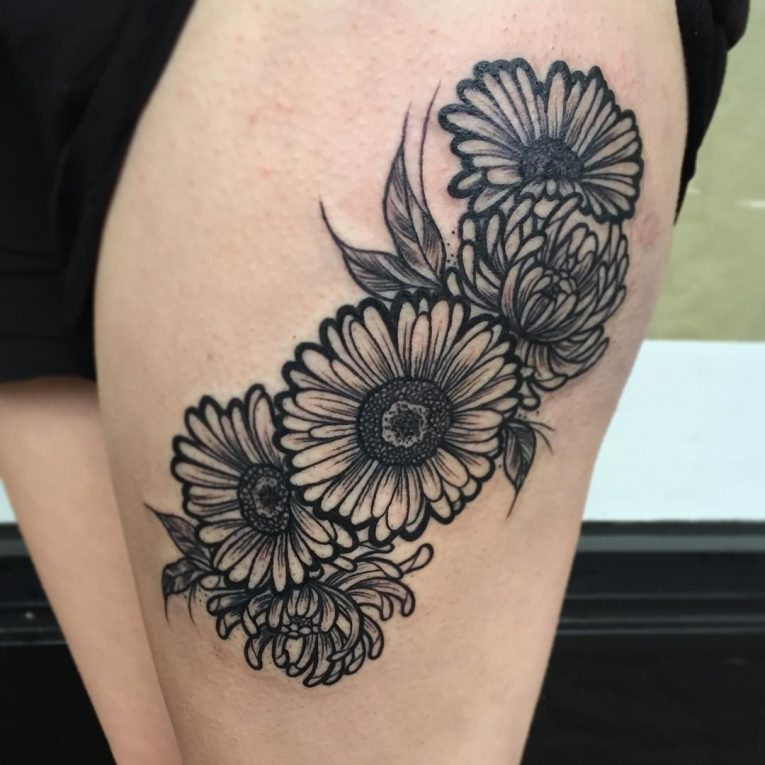 Chrysanthemum Tattoo 68