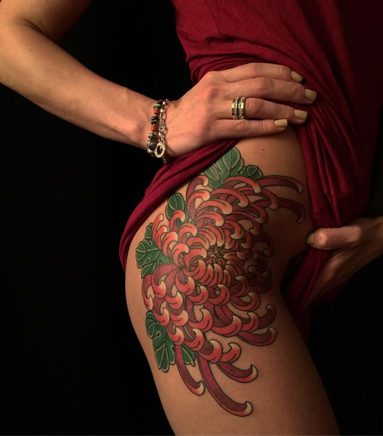 Chrysanthemum Tattoo 69