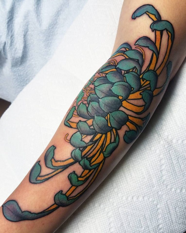 Chrysanthemum Tattoo 72