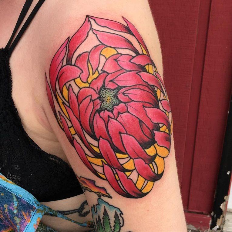 Chrysanthemum Tattoo 73