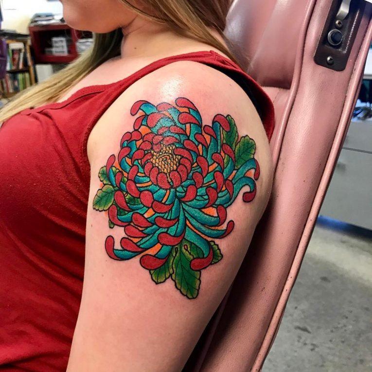 Chrysanthemum Tattoo 74