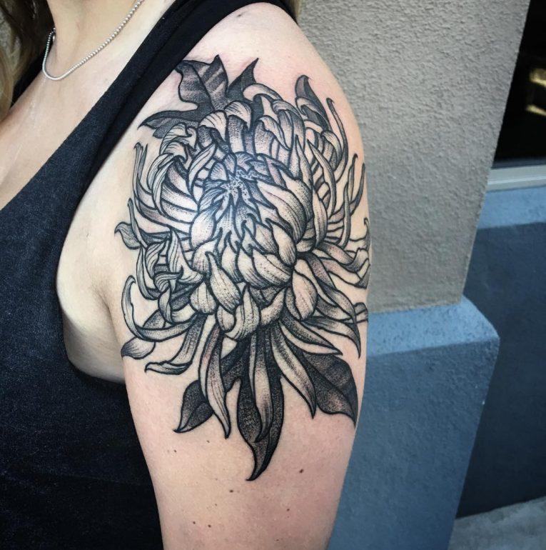 Chrysanthemum Tattoo 75