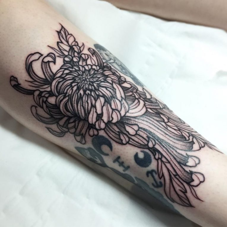 Chrysanthemum Tattoo 76