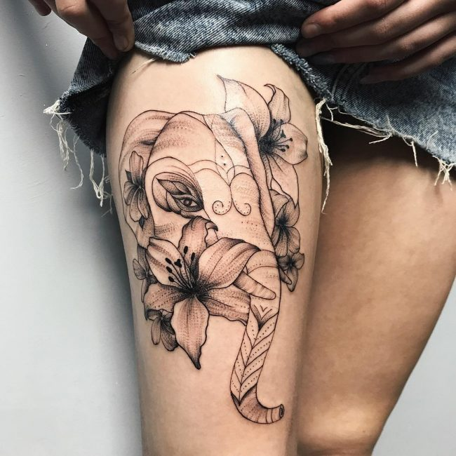 Elephant Tattoo 106
