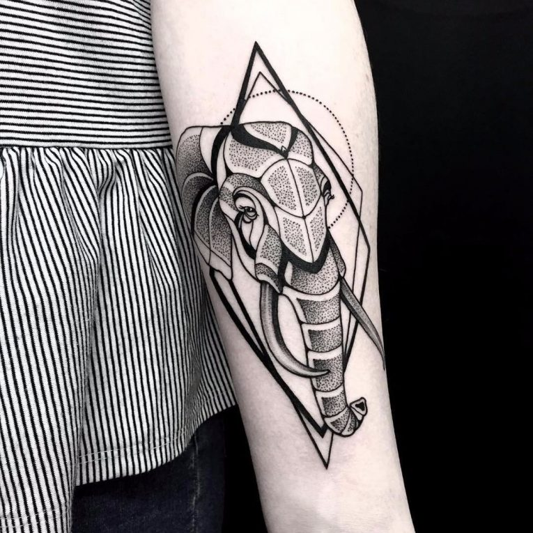 Elephant Tattoo 124