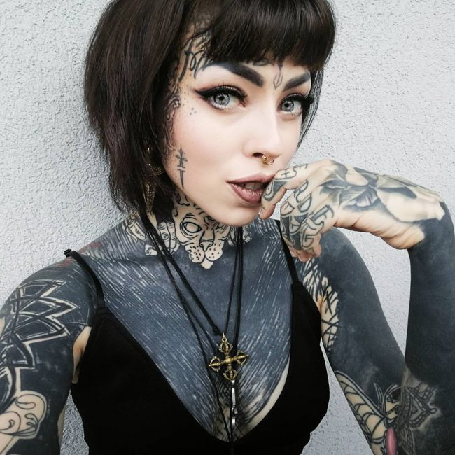 Tattoo Woman Eyes: 65+ Best Face Tattoo Designs & Ideas
