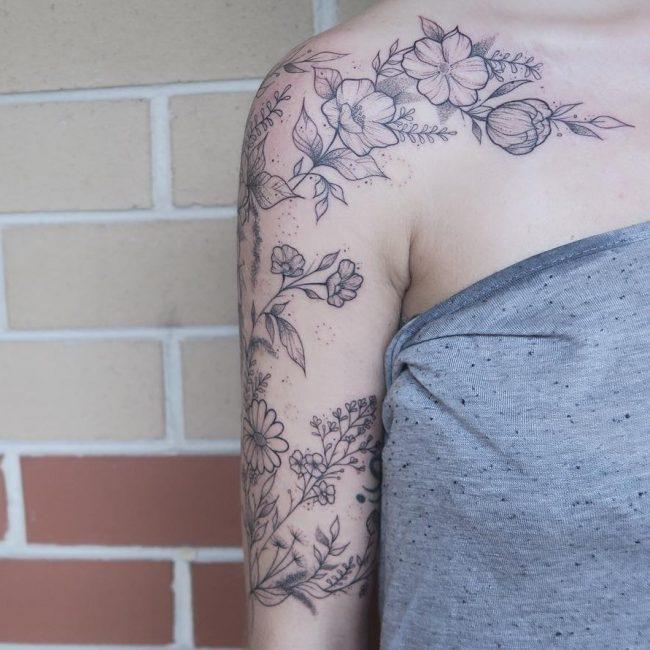 Floral Tattoo 104
